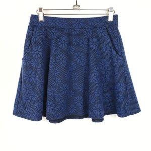 Joe B by Joe Benbasset | Floral Navy Blue Skirt M